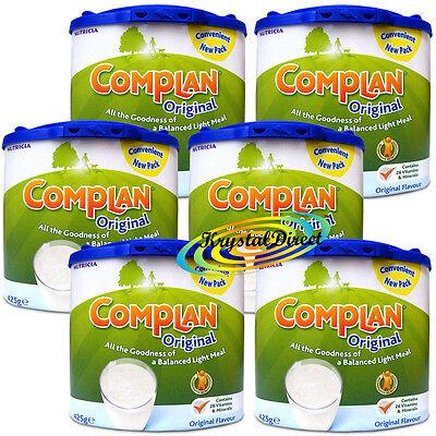6x Complan Original Nutrition Vitamin Supplement Protein Energy Drink 425g