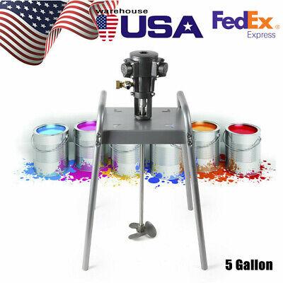 Pneumatic Platform Type Paint Mixer Machine 5 Gallon Ink Coating Mixing Tool Hot