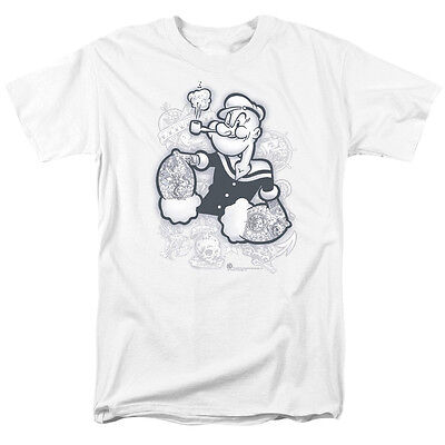 Popeye Tattooed T Shirt Sizes S 3X New