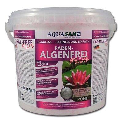 (9,20€/KG) AQUASAN Algoless Fadenalgenfrei 5 KG Algenvernichter Gartenteich