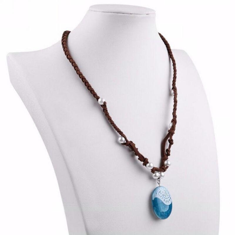 Princess Moana Necklace Glowing Music Cosplay Heart of Te Fiti Girl Pendant Gift
