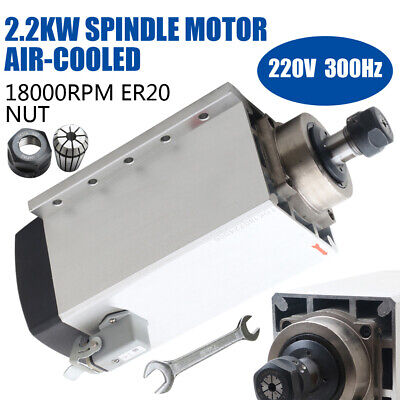 Cnc Router 2.2kw Air-cooled Spindle Motor Er20 Square Edge Impact Structure Mill