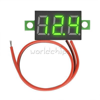 Greenyellow 0.36 Inch Led Digital Panel Meter Voltage Voltmeter 2 Wire Dc 3-30v