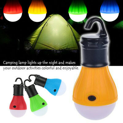 Hanging 3 LED Camping Tent Light Bulb Fishing Lantern Lamp Outdoor NEW -