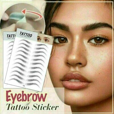 US 4D Hair-like Stick-On Authentic Eyebrows Waterproof Eyebrow Tattoo Sticker Eyebrow Liner & Definition