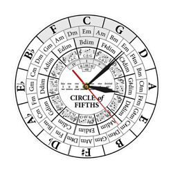 Circle Of Fifths Musician Composer Music Teaching Aid Hanging Wall Clock Watch