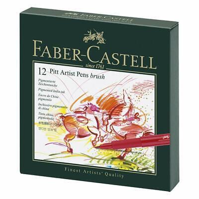Faber Castell India Ink Pitt Brush Artists Pen Gift Box Set of 12