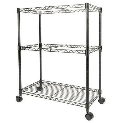 2 Layer Storage Rolling File Cart 23.6 X 12.6 X 27.6 Office Supplies Black
