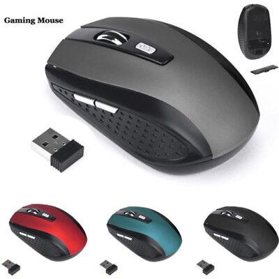 2,4GHz Kabellos Gaming Maus MÄUSE USB Empfänger Pro Gamer für PC Laptop