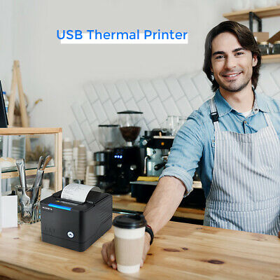 Us 80mm Usb Pos Thermal Receipt Printer With Large Paper Warehouse Auto Cutter