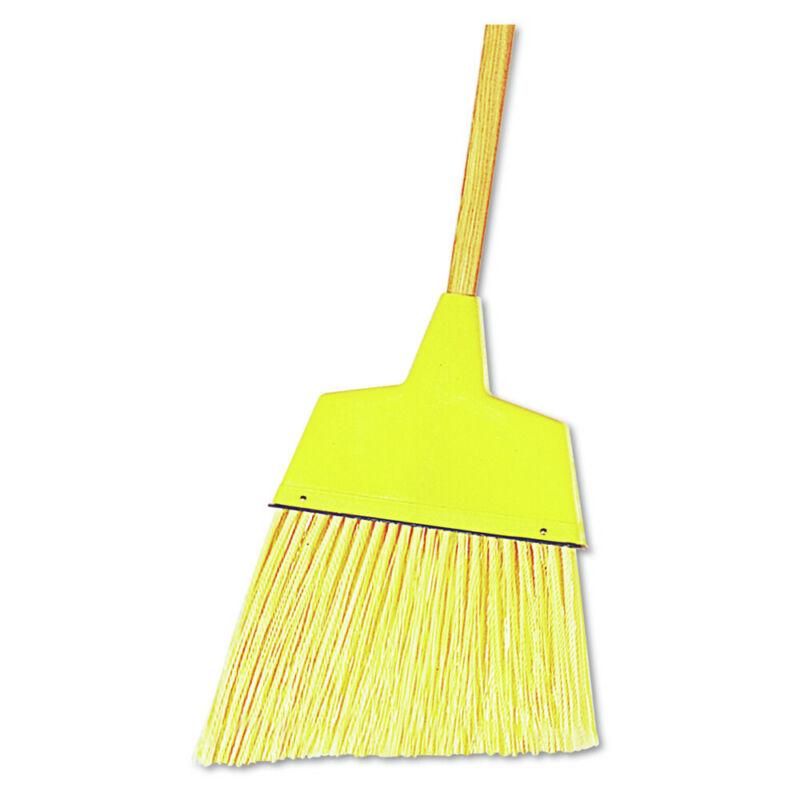 Boardwalk 932AEA Plastic Angler Broom w/ 53 in. Wood Handle - Yellow New