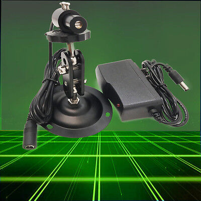 Industrial 532nm 10mw Green Laser Line Modulewith Power Adapt And Bracket