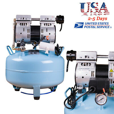 Portable Dental Medical Air Compressor Silent Quiet Noiseless Oil Free Oilless