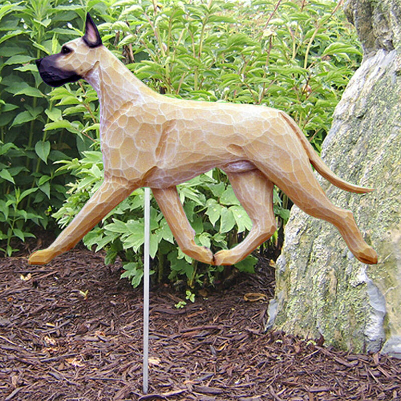 Great Dane Outdoor Garden Sign Hand Painted Figure Fawn