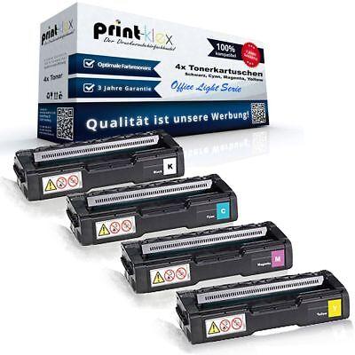 4x Große XL Tonerkartuschen für Ricoh Aficio SP-C-231-sf SP Office Light - Größe C Drucker