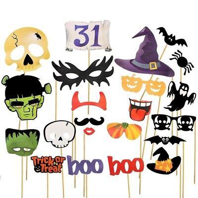 1 satz Halloween Decor Horror Foto Requisiten Kürbis Hexe Flederm?use Party GE