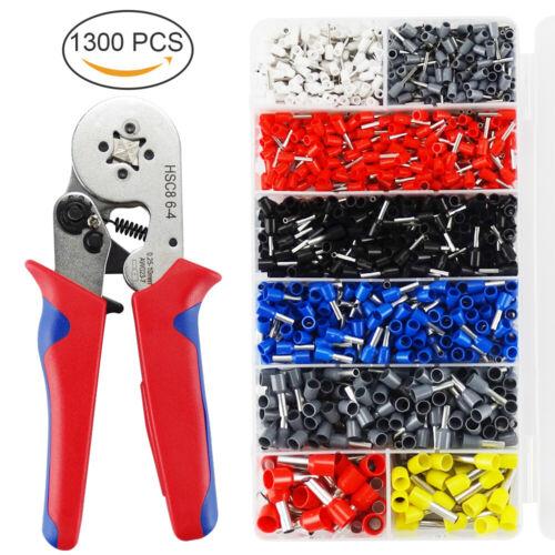 0,25-10mm² Crimpzange Selbsteinstellend Ratsche Aderendhülsen 1200 Kabelschuhe