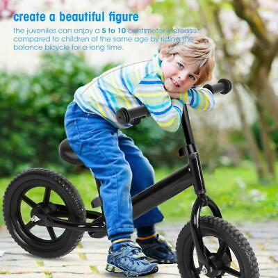 12inch Kids Balance Bike No-Pedal Learn To Ride Pre Bicycle Carbon Steel