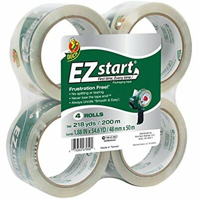 Clear Packing Tape Refill 4 Rolls EZ Start 1.88