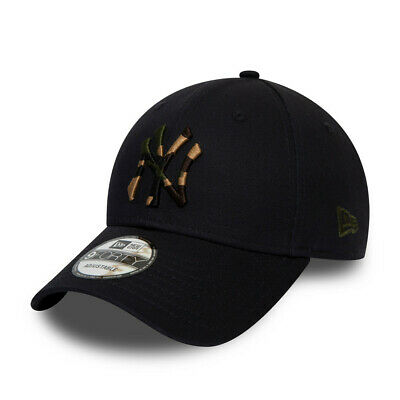 NEW ERA NEW YORK YANKEES BASEBALL CAP.9FORTY MLB CAMO NAVY STRAPBACK HAT S20 6