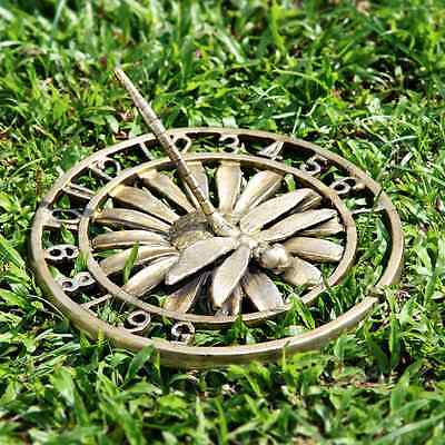 "Dragonfly Garden Sundial On Daisy Flower Garden Decor  10""D"