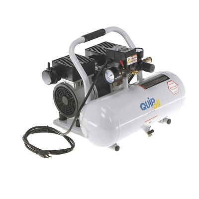 Quipall 2-1-sil-al Oil Free Compressor 1.0 Hp 2 Gallon Aluminum Tank New