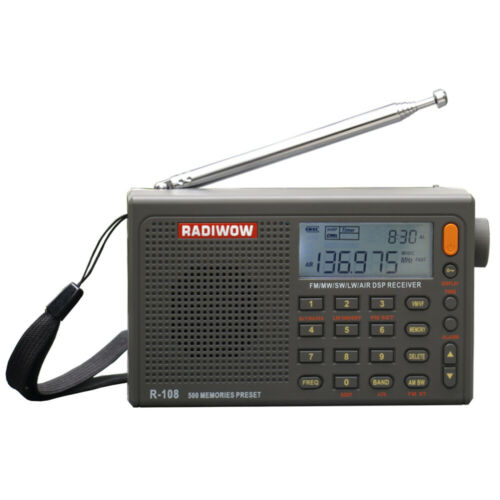 RADIWOW R-108 Radio Digital AM FM Portable Stereo LW SW AIR