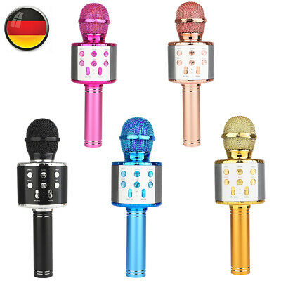 BT Karaoke Mikrofon Tragbares Handmikrofon für Kinder und Erwachsene E7C9