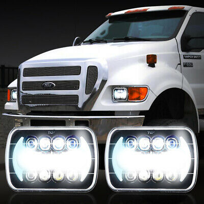 Pro Black LED Headlights Beam For Ford Super Duty Truck F550 F600 F650 F700 F750