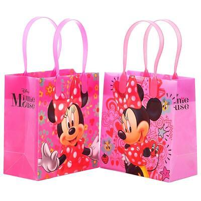 12PCS Disney Minnie Mouse Goodie Party Favor Gift Birthday Loot Bags Licensed ](Minnie Mouse Party Favor Bags)
