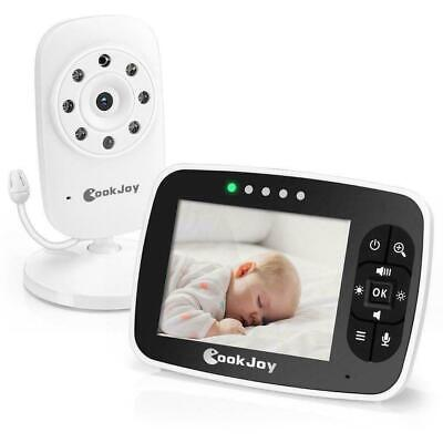 "Video Baby Monitor, Wireless Two-Way Talk Back Audio, 3.5"" Color LCD Eco"