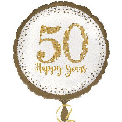 Dorado 50th Aniversario Bodas Globo Metalizado