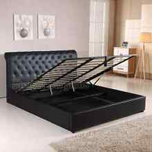 Valencia Gas Lift storage PU Leather Bed Frame Queen or King Hoppers Crossing Wyndham Area Preview