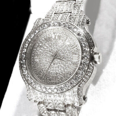 Crystal Watch Stainless Steel Lady Crystal +GIFT BOX Quartz Watch ()