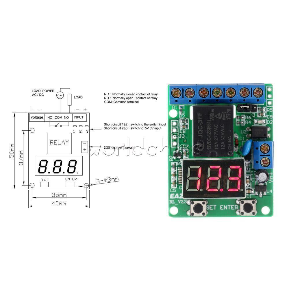 DC V Counting Cycle Timer Control Delay Relay Module Voltage - Relay coil voltage tolerance