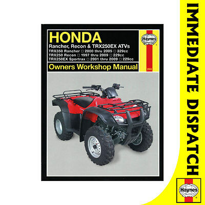 [2553] Honda Rancher Recon TRX250EX ATVs 1997-2009 Haynes Workshop Manual