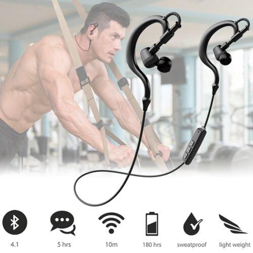 Headphones - Noise Cancelling Wireless Bluetooth 4.1 Stereo Sports Headset Earpiece Headphone