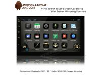 "7"" Double Din HD Android Car Stereo With Navigation WiFi USB SD & Phone Screen Mirroring"