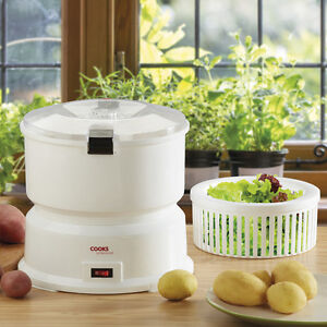 Electric Potato Peeler Machine Salad Spinner 1KG Automatic 6 Blade Kitchen COOKS