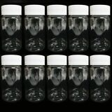 10 Empty Plastic Pill Bottles Medicine Container Vitamin Capsule Drug Holder Cl