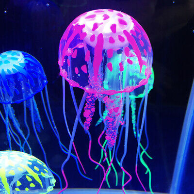 Colorful Glowing Effect Aquarium Floating Jellyfish Jelly Fish Tank Home Decor