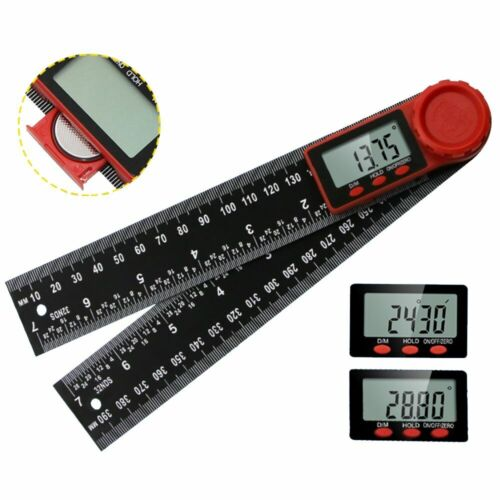 """Electronic Digital Angle Finder 8"""" Protractor Ruler Stainless LCD With Batteries"""