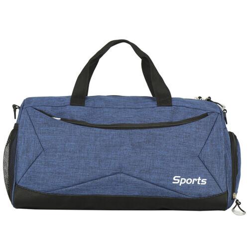 Mens Large Leather Travel Gym Bag Backpack Weekend Overnight