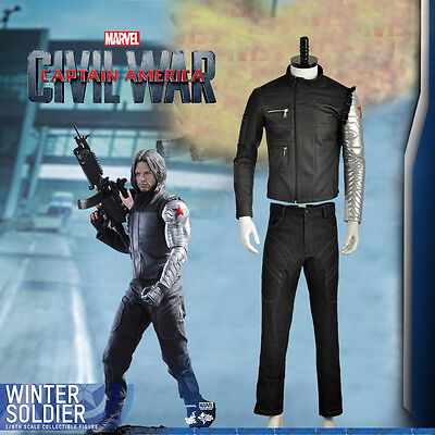 Captain America Winter Soldier Bucky Nanosuit Cosplay Costume Adult Tailored