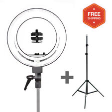 """Bright 18"""" Dimmable Photo Video Continuous Ring Light Kit Stand w/Carry Bag"""