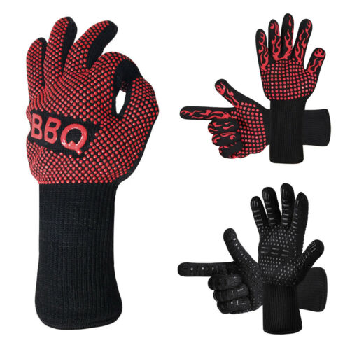 BBQ Grill Cooking Glove Heat Resistant Oven Gloves Silicone