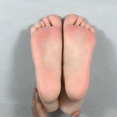 Female Foot Model Mannequin Fake Nail Rubber Plastic Silicone Display Tarsel Bon
