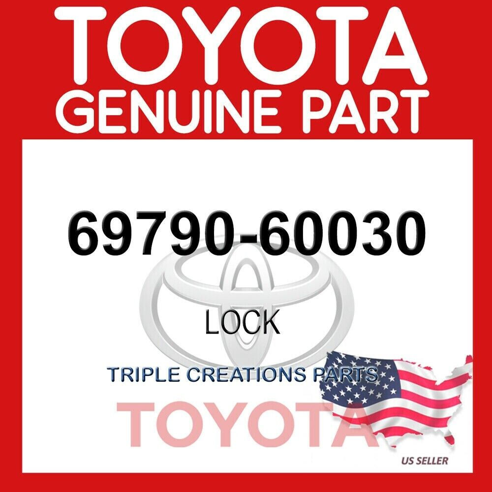 BACK DOOR LOCK 69790-60030 6979060030 Genuine Toyota CONTROL ASSY