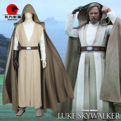 DFYM Star Wars The Last Jedi Luke Skywalker Cosplay Costume Deluxe Outfit