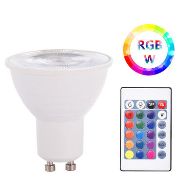 5W E27 LED Light Bulb RGB RGBW Colour Changing Remote Control Dimmable Spotlight